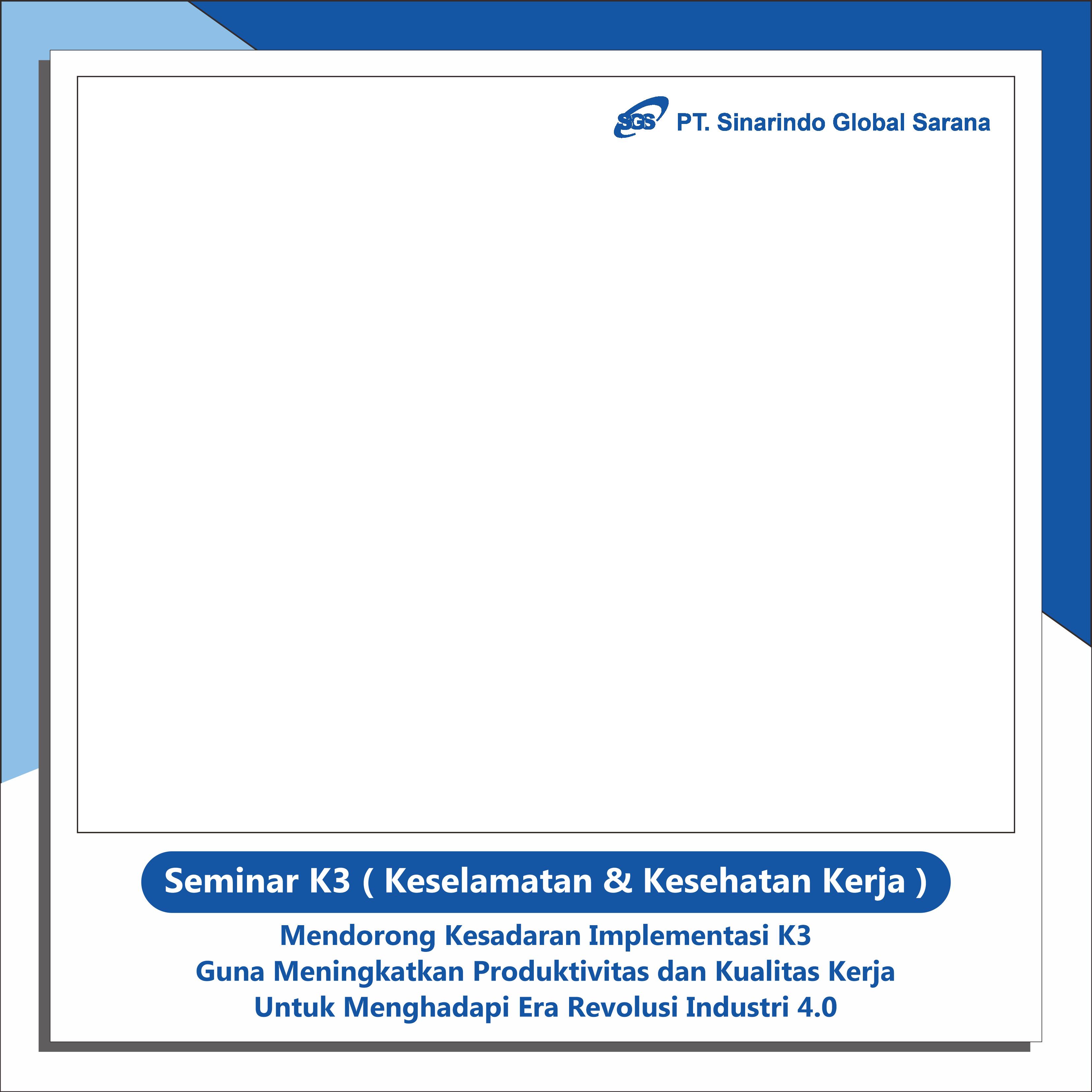 Frame Foto Event Seminar Nasional K3 Unisma