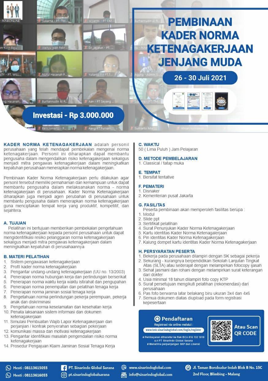 Kader Norma Ketenagakerjaan (KNK) 23 - 27 Agustus 2021