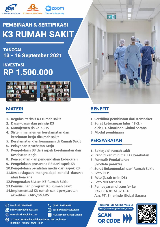 Pembinaan Online K3 di Rumah Sakit ( 22 - 25 November 2021 )