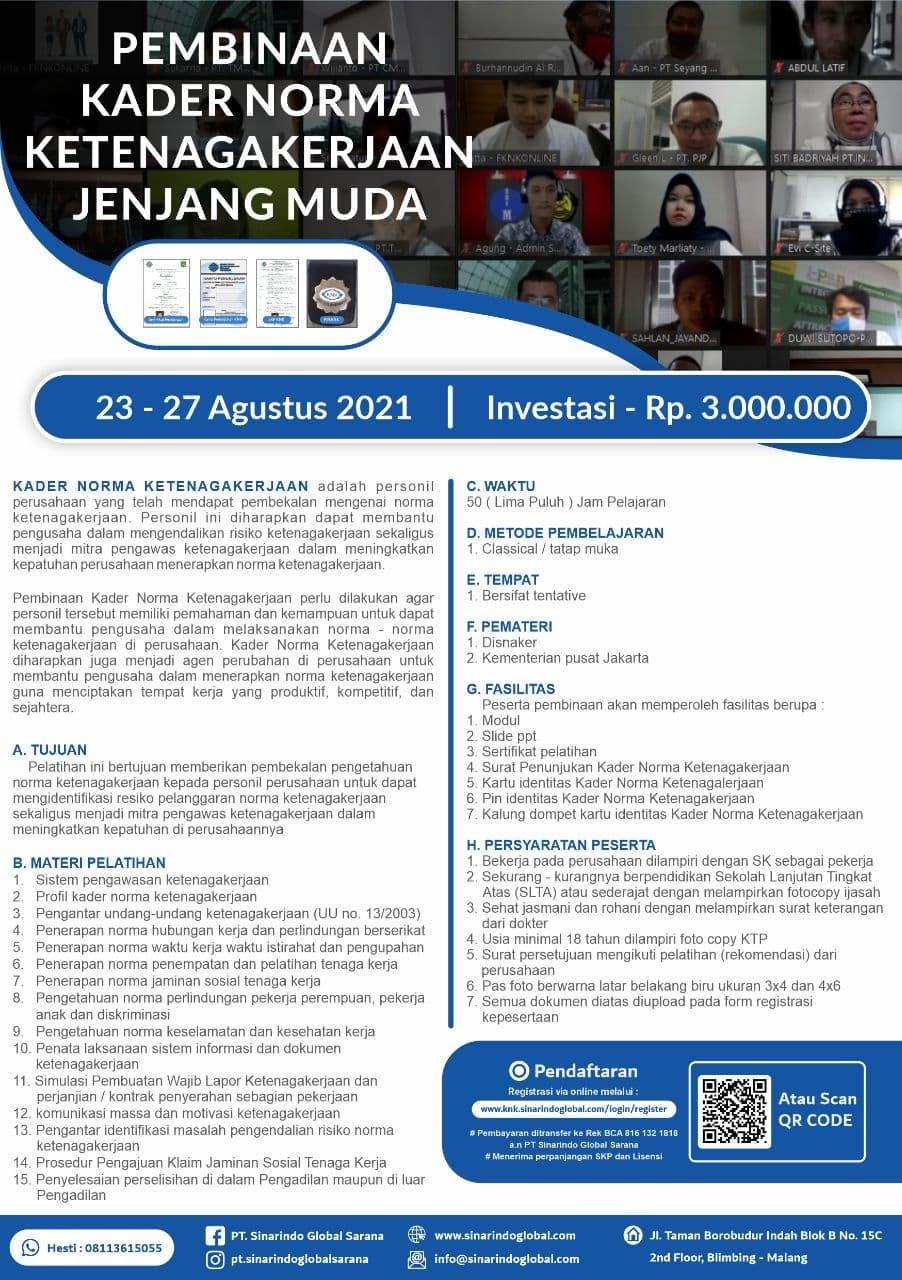 Kader Norma Ketenagakerjaan ( 25 - 29 Oktober 2021)
